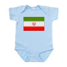 Iran National Flag Infant Creeper