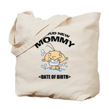 Proud New Mommy Personalized Tote Bag