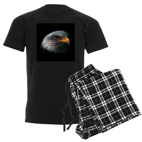 American Flag Eagle Men's Dark Pajamas