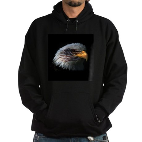American Flag Eagle Hoodie (dark)