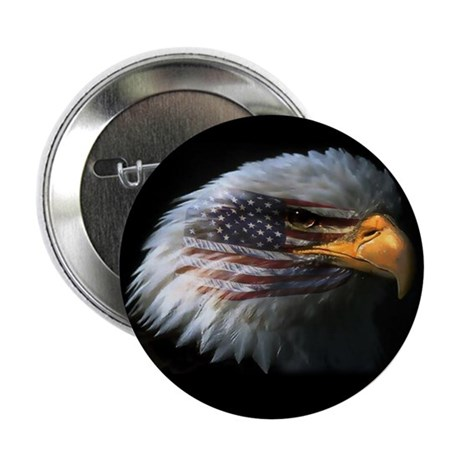 American Flag Eagle 2.25&quot; Button (10 pack)