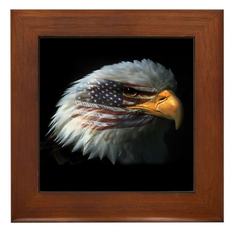 American Flag Eagle Framed Tile