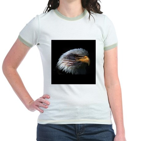 American Flag Eagle Jr. Ringer T-Shirt