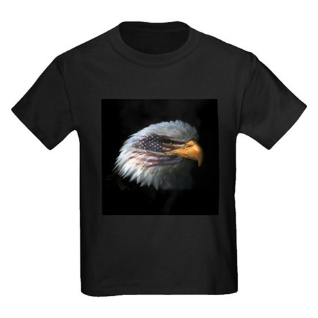 American Flag Eagle Kids Dark T-Shirt