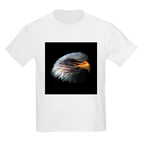 American Flag Eagle Kids Light T-Shirt