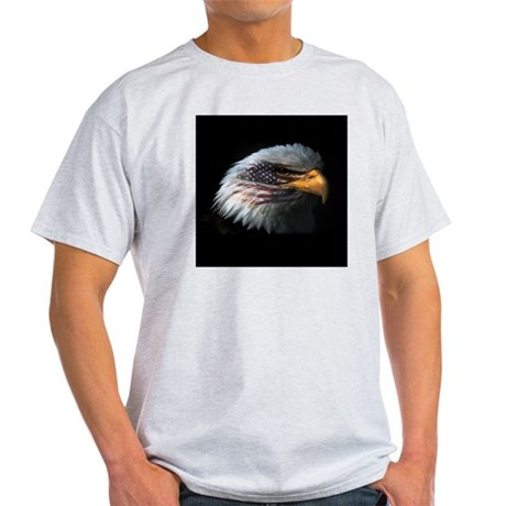 American Flag Eagle Light T-Shirt