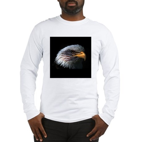 American Flag Eagle Long Sleeve T-Shirt