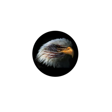 American Flag Eagle Mini Button
