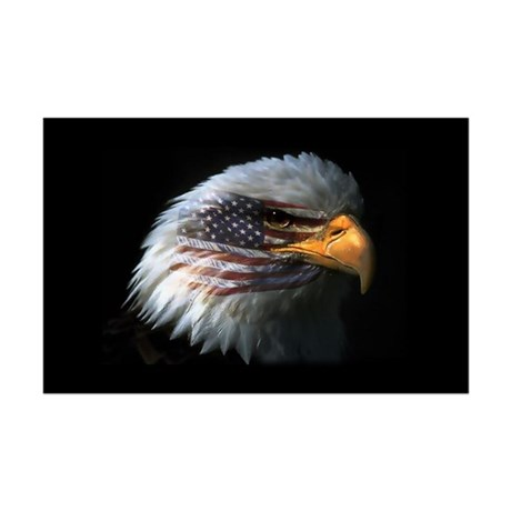 American Flag Eagle Mini Poster Print