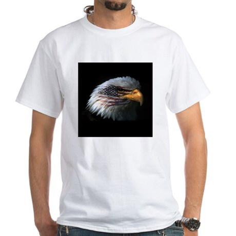 American Flag Eagle White T-Shirt
