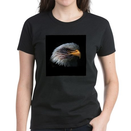 American Flag Eagle Women's Dark T-Shirt