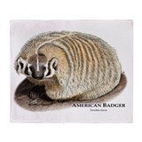 American Badger Throw Blanket