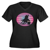 Scare Your Mother Women's Plus Size V-Neck Dark T-
