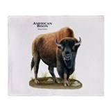 American Bison (Buffalo) Throw Blanket