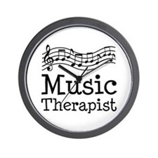 Music Therapist Wall Clock