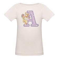 Teddy Alphabet A Purple Tee