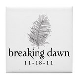 Twilight Breaking Dawn Feathe Tile Coaster