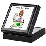 Social Work Month Desk Keepsake Box