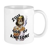 Zeus God of Awesome Small Mug