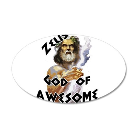Zeus God of Awesome 22x14 Oval Wall Peel