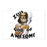 Zeus God of Awesome Postcards (Package of 8)