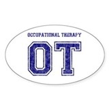 Team OT (Navy) - Oval Decal