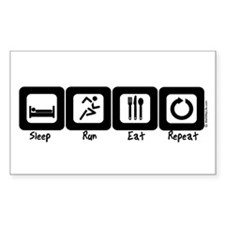 Sleep- Run- Eat- Repeat Rectangle Decal