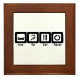 Sleep- Run- Eat- Repeat Framed Tile
