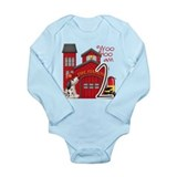 Fireman Birthday Long Sleeve Infant Bodysuit