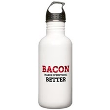Bacon makes everything better Water Bottle