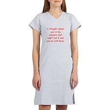 prayer joke gifts Women's Nightshirt