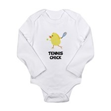 Tennis Chick Long Sleeve Infant Bodysuit