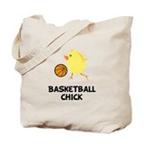Basketball Chick Tote Bag