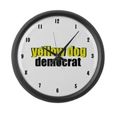 Yellow Dog Democrat Large Wall Clock