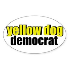 Yellow Dog Democrat Decal