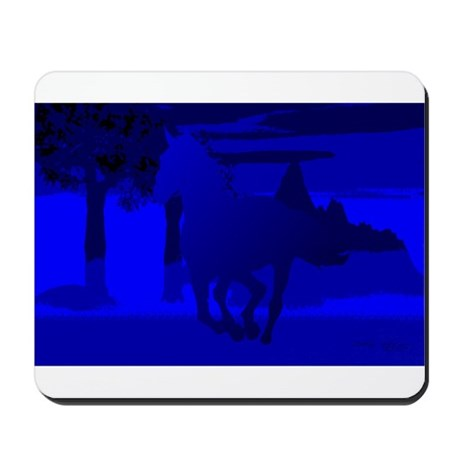 Stallion of Blue Mousepad