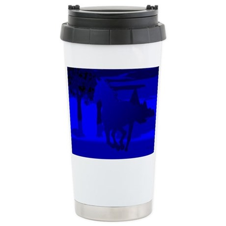 Stallion of Blue Ceramic Travel Mug