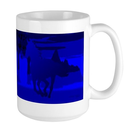 Stallion of Blue Large Mug