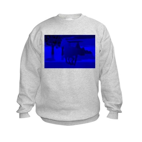 Stallion of Blue Kids Sweatshirt