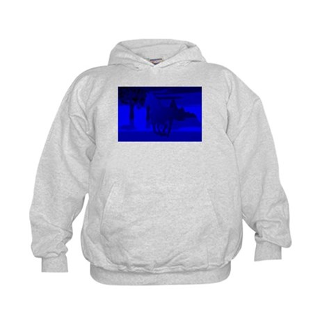 Stallion of Blue Kids Hoodie
