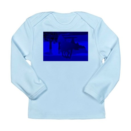 Stallion of Blue Long Sleeve Infant T-Shirt