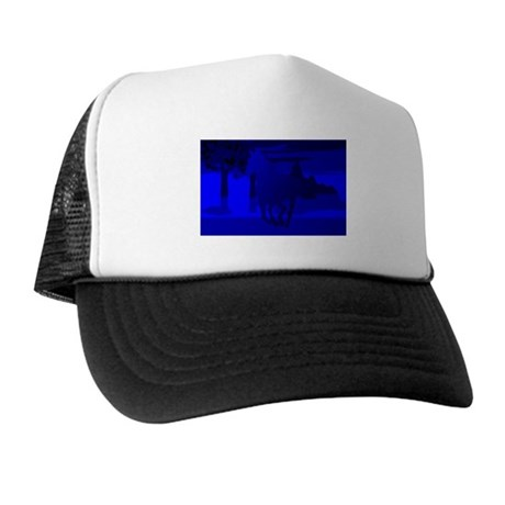 Stallion of Blue Trucker Hat