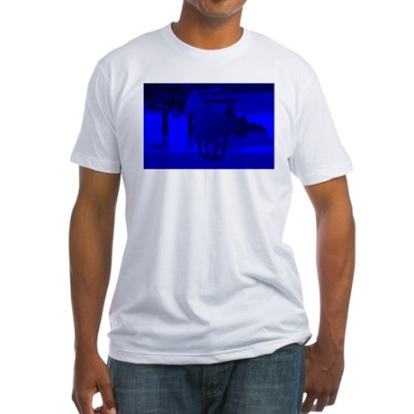 Stallion of Blue Fitted T-Shirt