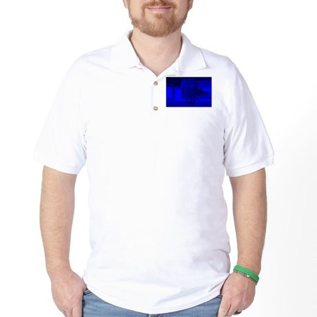 Stallion of Blue Golf Shirt