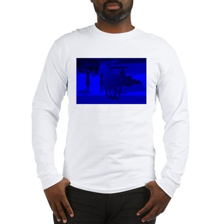 Stallion of Blue Long Sleeve T-Shirt