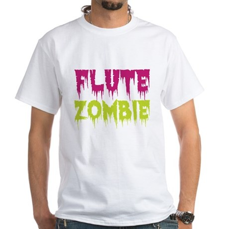 Flute Zombie White T-Shirt