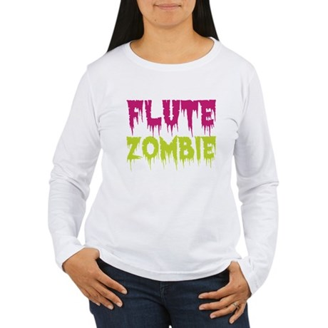 Flute Zombie Women's Long Sleeve T-Shirt