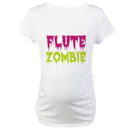 Flute Zombie Maternity T-Shirt