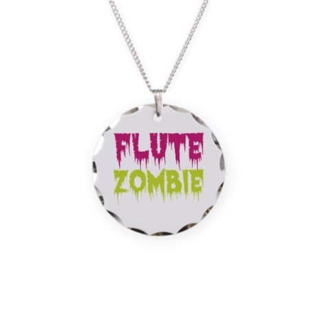 Flute Zombie Necklace Circle Charm