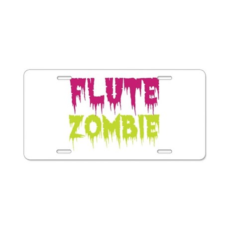 Flute Zombie Aluminum License Plate